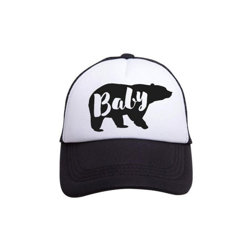 Baby Bear Trucker Hat - Tiny Trucker Co - Baby Hat - Baby Trucker Hat -  Kids Trucker Hat - Baby Bear - Children's Clothing Store - Baby Store - Infant Headwear - Infant - Camp Crib - Big Bear Lake California
