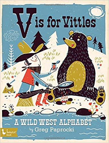 V Is For Vittles - Board Book - Baby Book - Children's Book - Kid's Book - Children's Clothing Store - Baby Store - Camp Crib - Big Bear Lake California