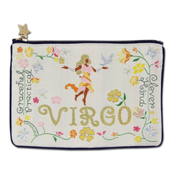Virgo Astrology Zip Pouch