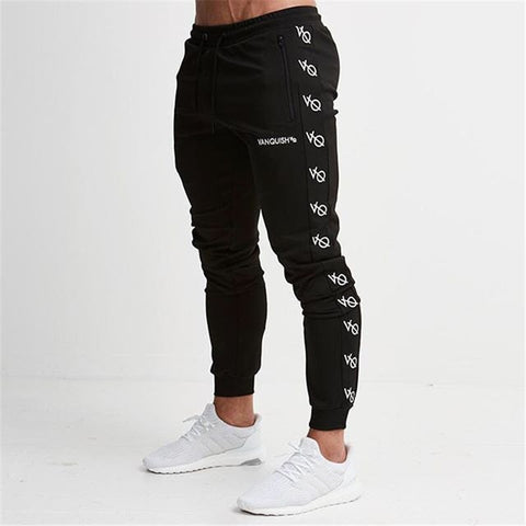 Men Joggers Trousers GYMS   Casual Pants Workout pants Sweatpants Jogger Black Workout pants .