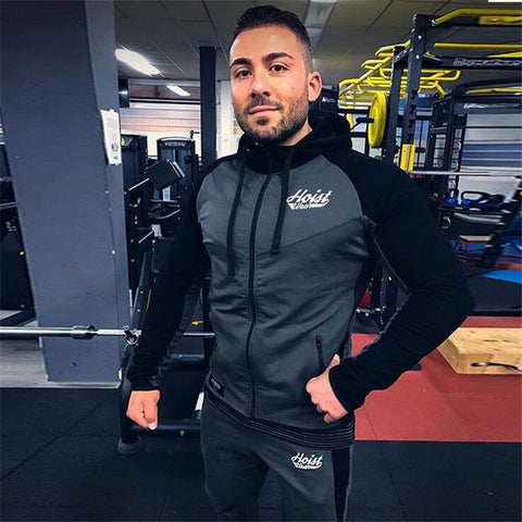 Man gyms workout Sportswear Hooded Casual  jacket Casual .