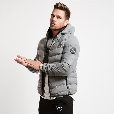 Men's Autumn winter  fitness casual Cotton-padded jacket.
