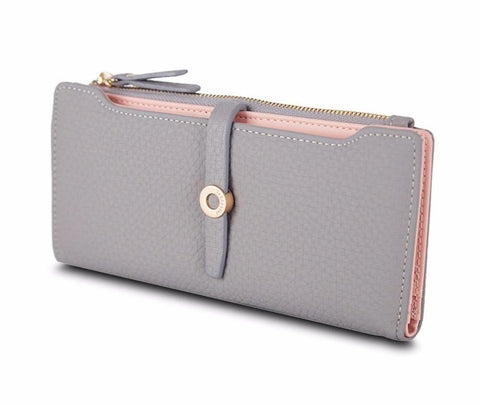 Lovely Leather Long Women Fashion Clasp Purse