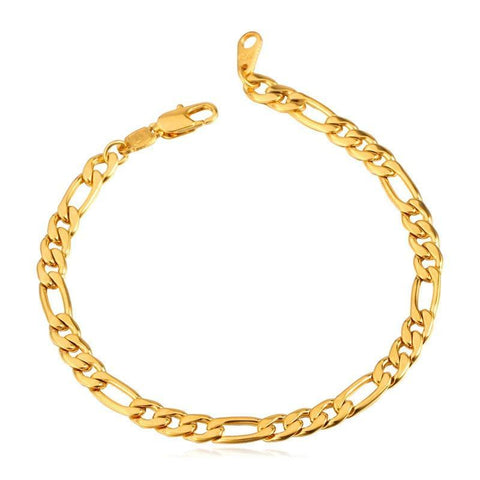 Figaro Chain & Link  21CM  Bracelets for Women Men