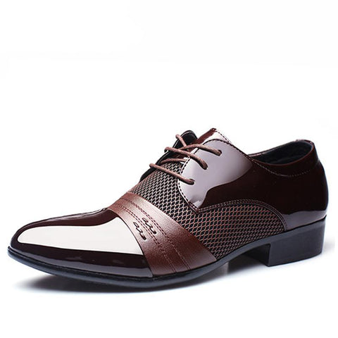 Men's Dress Shoes Men Business Flat Shoes Free Shipping Breathable Men Formal Office Shoes Plus Size 38-47