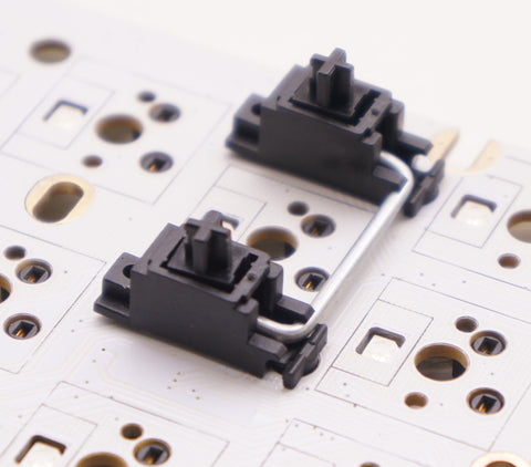 GMK Screw-in Stabiliser affixed to PCB