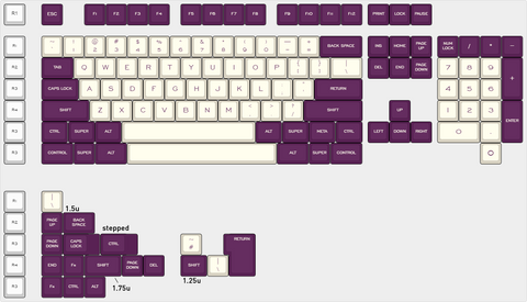 SA Violet on Cream kit