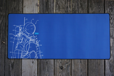 Space Cadet Deskmat Blue Full
