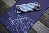 Space Cadet Deskmat Yuri Spaceman Close Up Keyboard