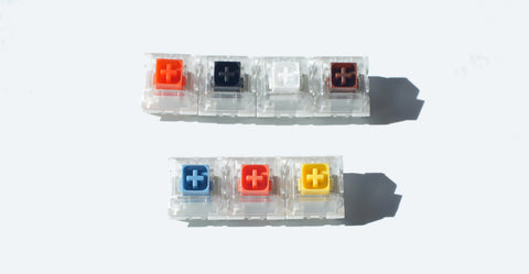 Kailh BOX Switch Range with normal and heavier springs