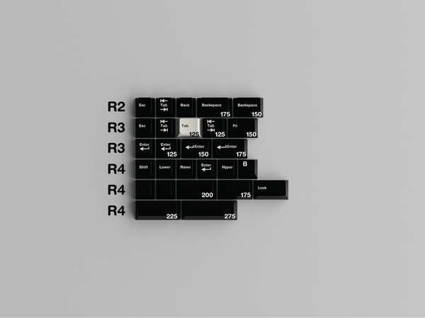 [GB] GMK WoB 40s, Colevrak+ and R0/R5