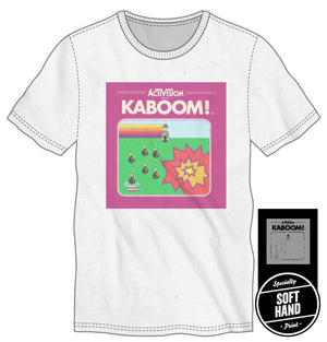 Activision Kaboom Men's White T-Shirt Avoid the Mad Bomber