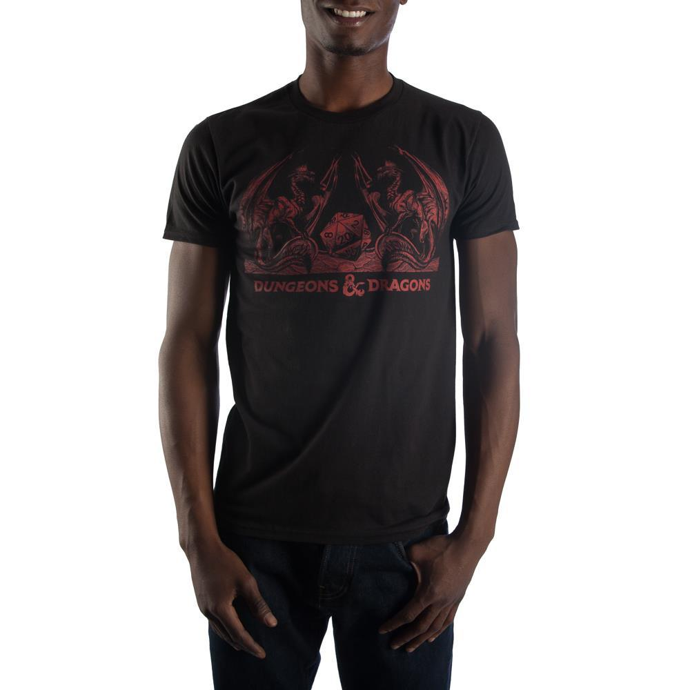 Dungeons and Dragons with Dice Shirt in Red
