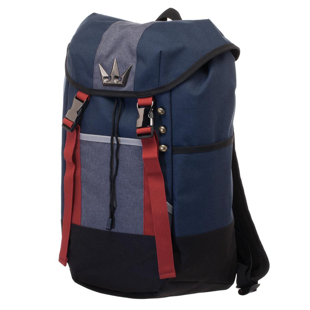 Bioworld - Kingdom Hearts Sora Inspired Rucksack - Navy Blue, Red, and Grey