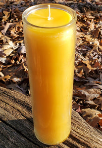 100 hours pure Michigan Beeswax prayer, Vigil, Meditation, Sanctuary candle no lead, zinc or any chemicals