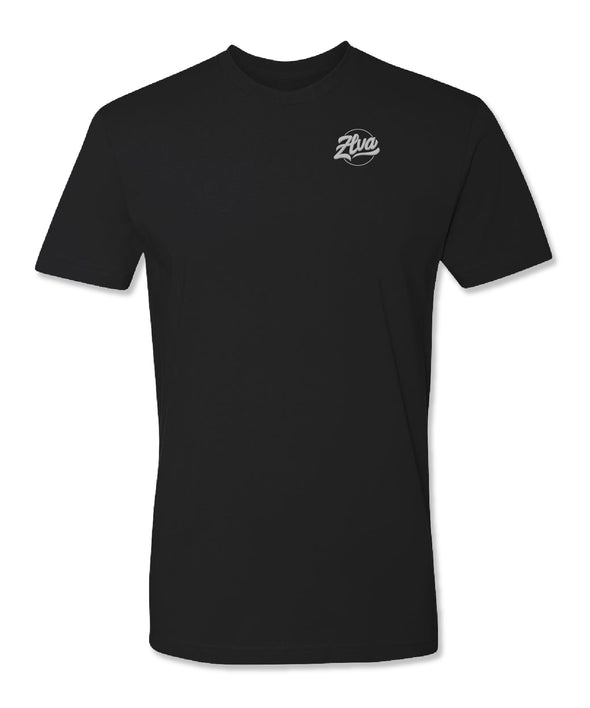 ZLVA BEACH LOGO TEE CORPORATE- BLACK