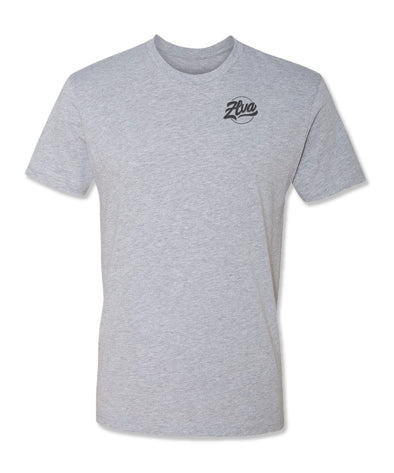 ZLVA BEACH LOGO CORP TEE- HEATHER GREY