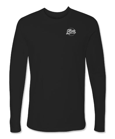 ZLVA BEACH LOGO CORP LONG SLEEVE TEE- BLACK