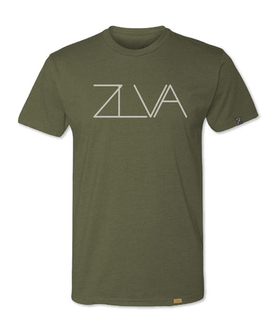 ZLVA BIG LOGO TEE - MILITARY GREEN