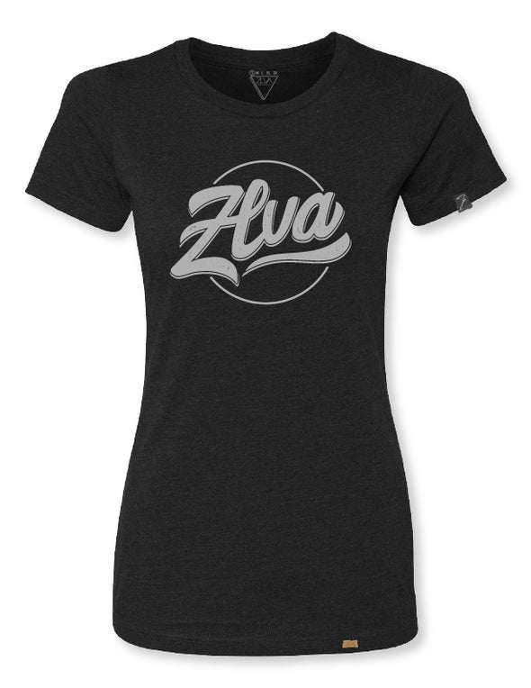 ZLVA WOMEN'S BEACH LOGO TEE - BLACK