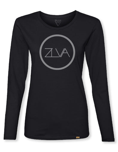ZLVA CIRCLE LOGO WOMEN'S L/S - BLACK