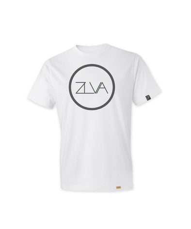 ZLVA CIRCLE LOGO KIDS TEE - WHITE