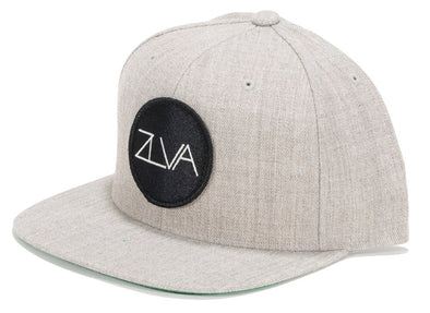 ZLVA 6 PANEL SNAP BACK - HEATHER GREY