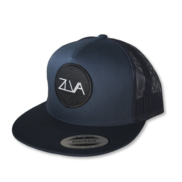 ZLVA 5 PANEL TRUCKER SNAP BACK - DARK NAVY BLUE