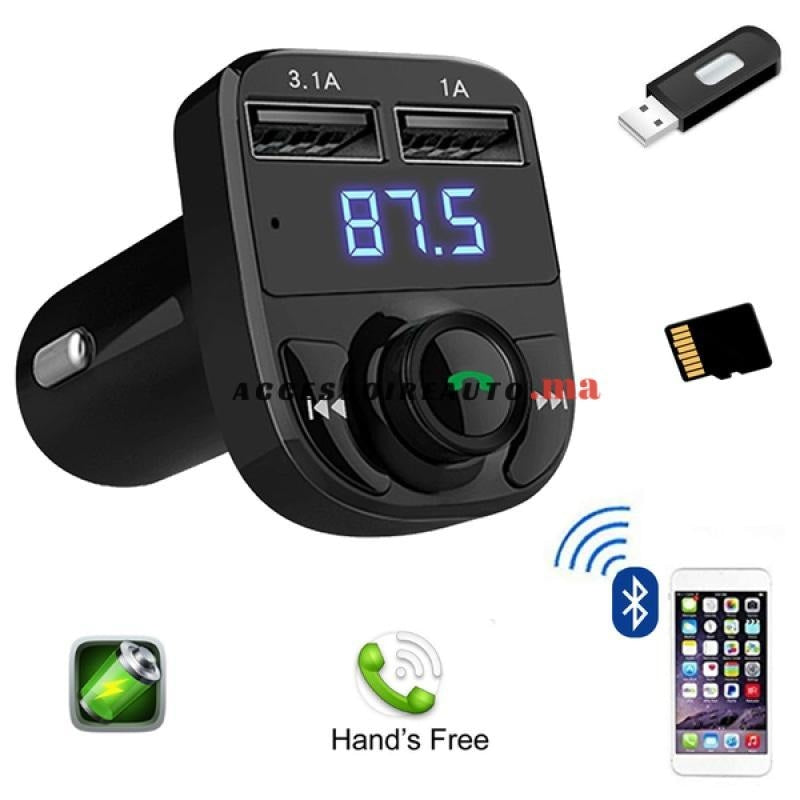 Bluetooth Chargeur Radio Transmetteur A
