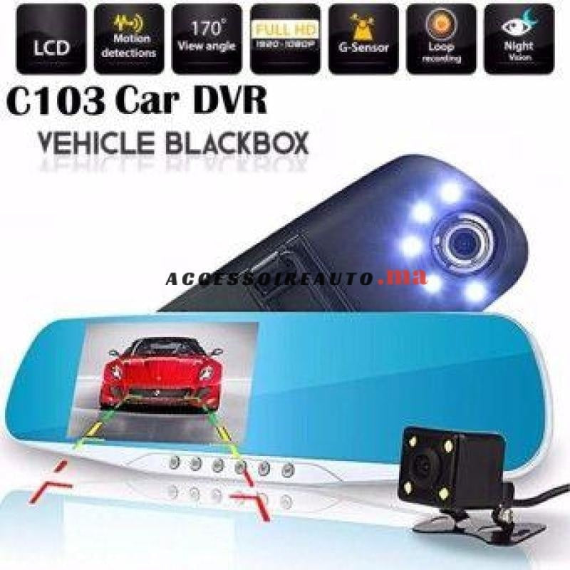 Dashcam Double Caméra Led - Dvr