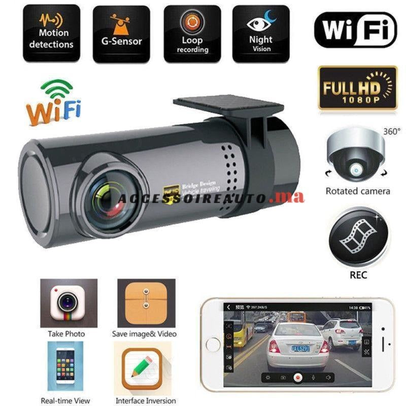 Mini Dashcam (Caché) 720P Full Hd-Wifi
