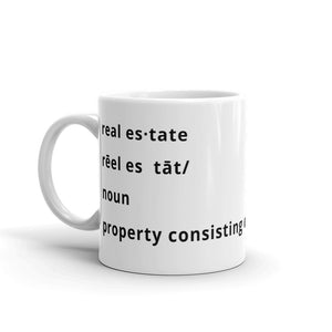 real estate defined Mug