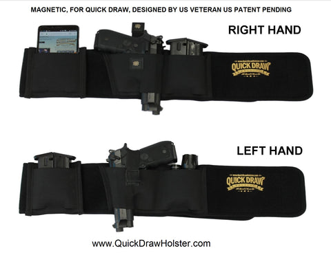 Fits right hand and left hand holster, Magnetic Quick Draw Holster, quick draw holster, quickdrawholster.com, quick draw holster fits all pistols, best concealed carry holster