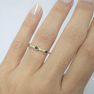 Multi Color Stackable Gemstone Rings