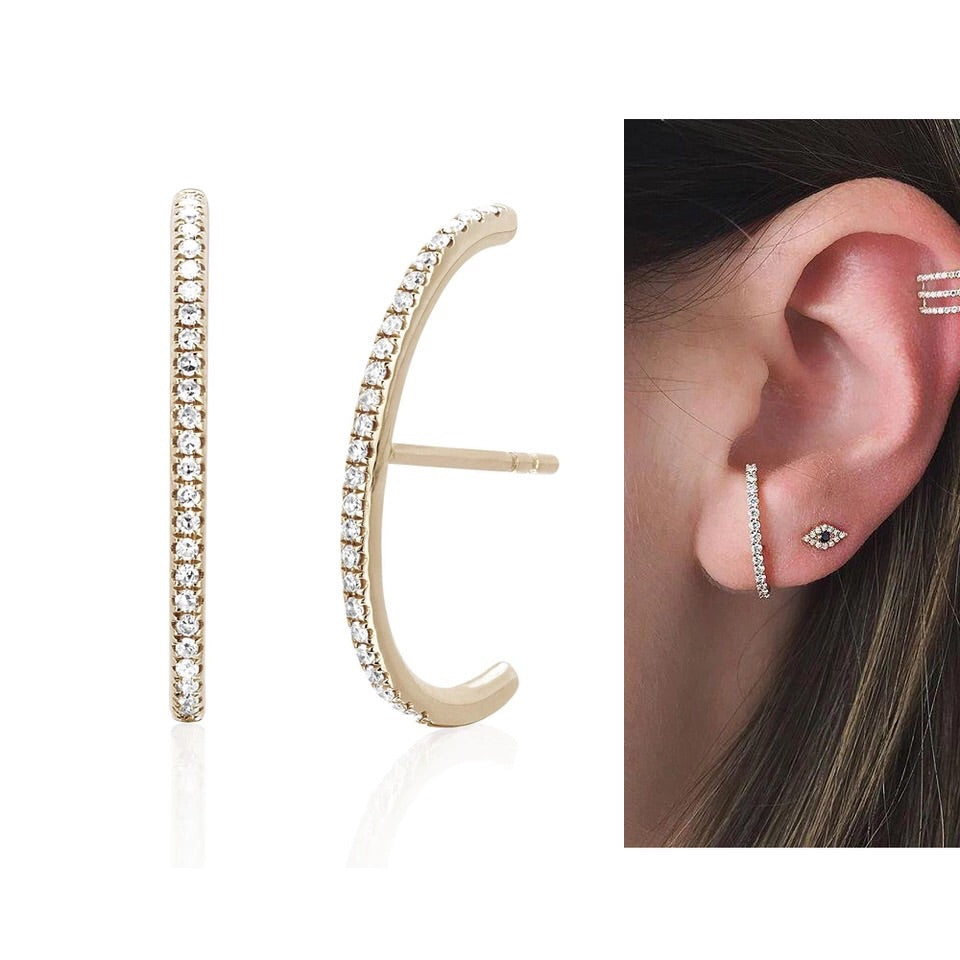 Pave Ear Band