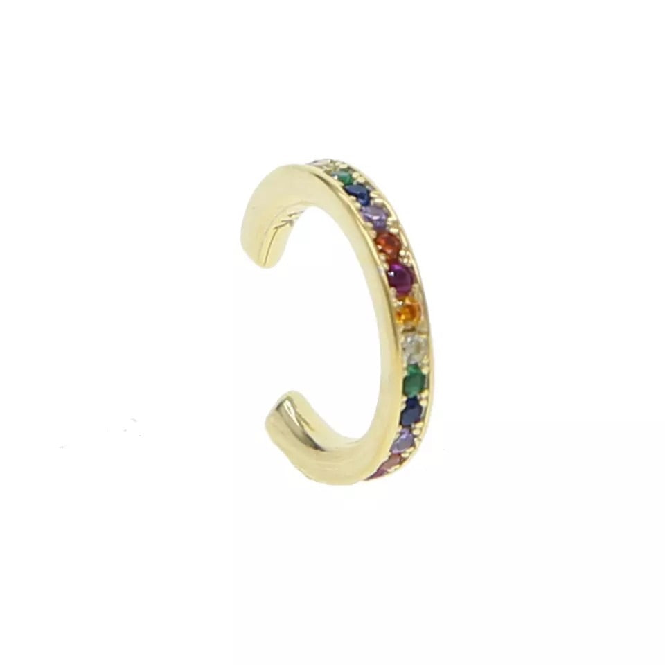 Rainbow Clip On Earring