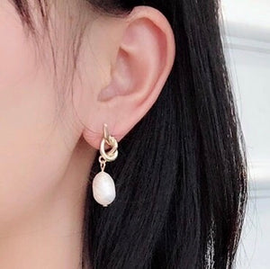 Leah Pearl Knot Earring