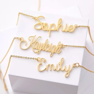 Custom Font Necklace