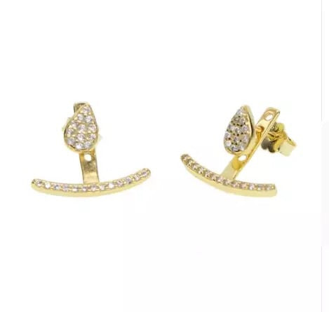 Pave Pear Stud with Jacket