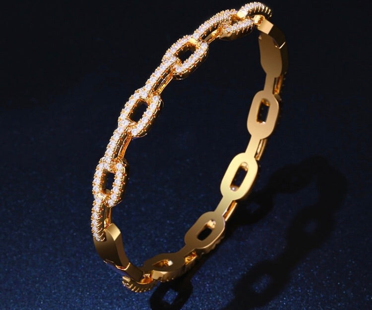 LUXE Pave Link Bracelet