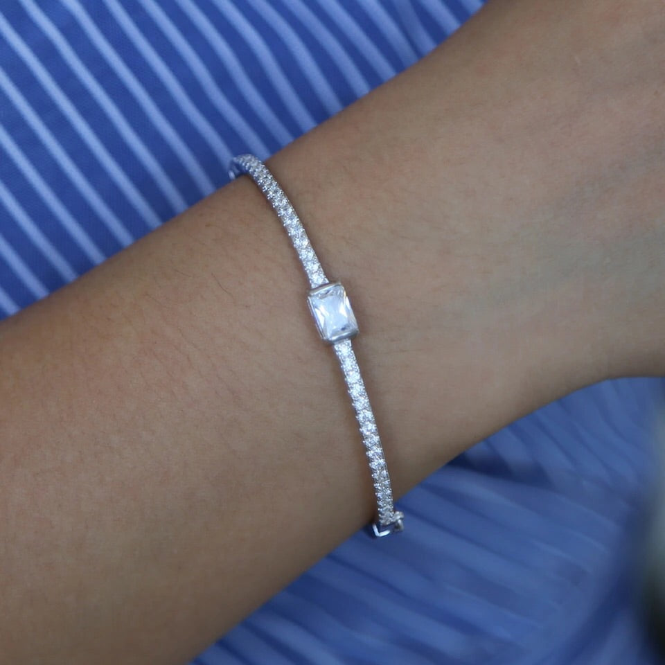 Pave Click Bangle