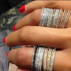 Stackable Pave Bands