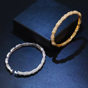 LUXE Pave Bamboo Bracelet