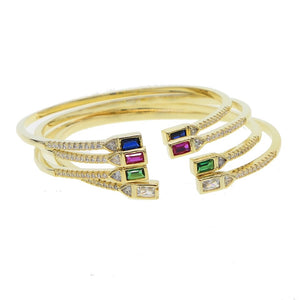 Open Front Pave Bangle