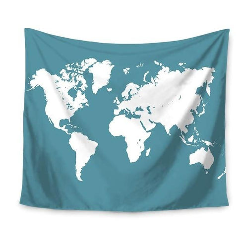 Accessories - World Map Wall Hanging Tapestry