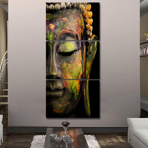 Canvas - Abstract Buddha 3 Pieces Canvas