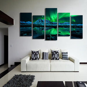 Canvas - Aurora Borealis 5 Piece Canvas