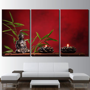 Canvas - Buddhism Meditation 3 Pieces Canvas