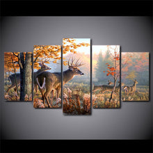 Canvas - Deer Forest 5 Piece Canvas