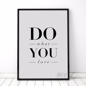 "Canvas - ""Do What You Love"" 1 Piece Canvas"